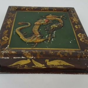 Vintage Tin Huntley & Palmers Biscuits Dragon Squa